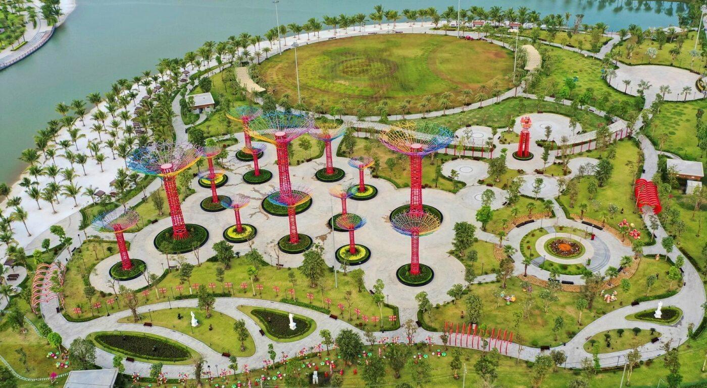 Tiến độ thi công Công viên ánh sáng - Vinhomes Grand Park